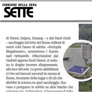CAE on Sette - Corriere della Sera  to talk about hydro-meteorological monitoring systems in Vietnam
