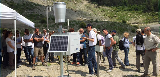 CAE participates in the technology fair at Poggio Baldi landslide